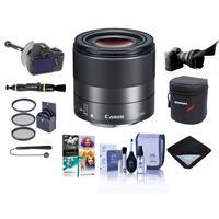 Image of Canon EF-M 32mm f/1.4 STM Lens - Bundle With 43mm Filter Kit, FocusShifter DSLR Follow Focus, Flex Lens Shade, Lens Case, Cleaning Kit, Capleash II, Lens Wrap, Lens pen Lens Cleaner, Software Package