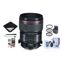 Image of Canon TS-E 90mm f/2.8L Tilt-Shift Macro Lens - U.S.A. Warranty - Bundle With 77mm Filter Kit, Lens Wrap, Cleaning Kit, Capleash II, Software Package