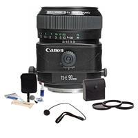 Image of Canon TS-E 90mm f/2.8 Tilt & Shift Manual Focus Telephoto Lens Kit, USA with 58mm Filter Kit, Lens Cap Leash, Professional Lens Cleaning Kit