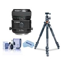 Image of Canon TS-E 90mm f/2.8 Tilt & Shift Manual Focus Telephoto Lens - USA - Bundle With Vanguard Alta Pro 264TBH Tripod and TBH-100 Head with Arca-Swiss QR Plate, Cleaning Kit, Microfiber Cloth