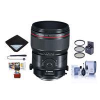 Image of Canon TS-E 90mm f/2.8L Tilt-Shift Macro Lens - U.S.A. Warranty - Bundle With 77mm Filter Kit, Lens Wrap, Cleaning Kit, Capleash II, Mac Software Package