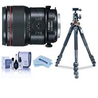 Image of Canon TS-E 90mm f/2.8L Tilt-Shift Macro Lens - U.S.A. Warranty - Bundle With Vanguard Alta Pro 264TBH Tripod and TBH-100 Head with Arca-Swiss QR Plate, Cleaning Kit, Microfiber Cloth