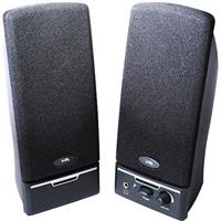 Image of Cyber Acoustics CA-2014 2-Piece Amplified Computer Speaker System, Black
