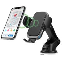Image of Car and Driver Wireless Charging Mount Kit with Smart Grab and Release, Black