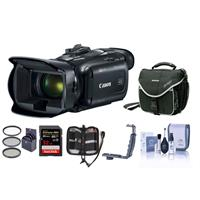 Image of Canon VIXIA HF G50 4K UHD Camcorder, 20x Optical Zoom - Bundle With 32GB SDHC U3 Card, Video Bag, 58mm Filter Kit, Cleaning Kit, Memory Wallet, Dual Shoe Bracket