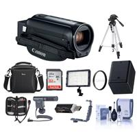Canon VIXIA HF R82 3.28MP FHD Camcorder - Bundle With 43mm UV Filter, Video Bag, 32GB SDHC Card, Video Light, Tripod, Shotgun Mic, Spare Battery, Cleaning Kit, Memory Wallet, And More