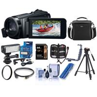 Canon VIXIA HF W11 32GB Full HD Waterproof Camcorder with LED Light, 40x Optical Zoom - Bundle With Camera Bag, 64GB SDXC Card, Tripod, Mini Video Light Kit, Dual Shoe Bracket, Cleaning Kit, And More