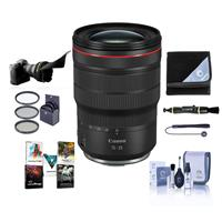 Image of Canon RF 15-35mm f/2.8 L IS USM Zoom Lens - Bundle With 82mm Filter Kit, Flex Lens Shade, Lens Wrap, Lens Cleaner, Capleash II, Cleaning Kit, PC Software Package