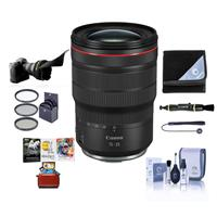 Image of Canon RF 15-35mm f/2.8 L IS USM Zoom Lens - Bundle With 82mm Filter Kit, Flex Lens Shade, Lens Wrap, Lens Cleaner, Capleash II, Cleaning Kit, Mac Software Package