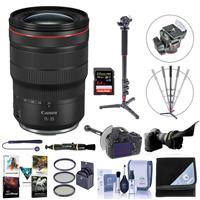 Image of Canon RF 15-35mm f/2.8 L IS USM Zoom Lens - Bundle With 82mm Filter Kit, Flex Lens Shade, FocusShifter DSLR Follow Focus, 64GB SDXC U3 Card, Lens Wrap, Cleaning Kit, Software Package, And More