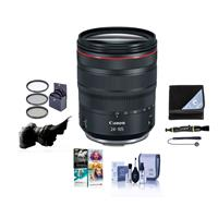 Image of Canon RF 24-105mm f/4 L IS USM Zoom Lens - U.S.A. Warranty - Bundle With 77mm Filter Kit, Flex Lens Shade, Lens Wrap, Cleaning Kit, Capleash II, Lens Cleaner, Pc Software Package