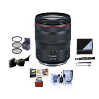 Image of Canon RF 24-105mm f/4 L IS USM Zoom Lens - U.S.A. Warranty - Bundle With 77mm Filter Kit, Flex Lens Shade, Lens Wrap, Cleaning Kit, Capleash II, Lens Cleaner, Mac Software Package