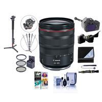Image of Canon RF 24-105mm f/4 L IS USM Zoom Lens - U.S.A. Warranty - Bundle With 77mm Filter Kit, Flex Lens Shade, FocusShifter DSLR Follow Focus & Rack Focus, Photo / Video Monopod, Software Package And More