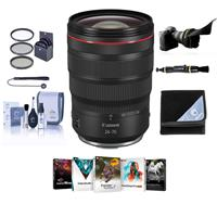 Image of Canon RF 24-70mm f/2.8 L IS USM Zoom Lens - Bundle With Flex Lens Shade, 82mm FIlter Kit, Lens Wrap, Cleaning Kit, Cpaleash II, Lens Cleaner, PC Software Package