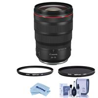 Image of Canon RF 24-70mm f/2.8 L IS USM Zoom Lens - Bundle With Hoya NXT Plus 82mm 10-Layer HMC UV Filter, HOYA 82mm NXT Circular Polarizer Filter, Cleaning Kit, Microfiber Cloth