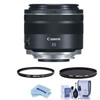 Image of Canon RF 35mm f/1.8 Macro IS STM Lens - U.S.A. Warranty - Bundle With Hoya NXT Plus 52mm 10-Layer HMC UV Filter, HOYA 52mm NXT Circular Polarizer Filter, Cleaning Kit, Microfiber Cloth