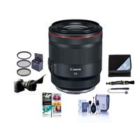 Image of Canon RF 50mm f/1.2 L USM Lens - U.S.A. Warranty - Bundle With 77mm Filter Kit, Flex Lens Shade, Lens Wrap, Cleaning Kit, Capleash II, Lens Cleaner, Pc Software Package