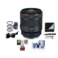 Image of Canon RF 50mm f/1.2 L USM Lens - U.S.A. Warranty - Bundle With 77mm Filter Kit, Flex Lens Shade, Lens Wrap, Cleaning Kit, Capleash II, Lens Cleaner, Mac Software Package