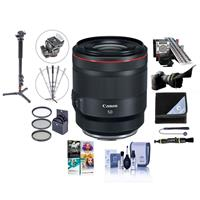 Image of Canon RF 50mm f/1.2 L USM Lens - U.S.A. Warranty - Bundle With 77mm Filter Kit, Flex Lens Shade, LENSALIGN MkII Focus Calibration System, Photo / Video Monopod, Lens Wrap, Software Package And More