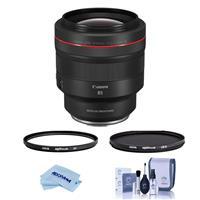 Image of Canon RF 85mm f/1.2 L USM DS Lens - Bundle With Hoya NXT Plus 82mm 10-Layer HMC UV Filter, HOYA 82mm NXT Circular Polarizer Filter, Cleaning Kit, Microfiber Cloth