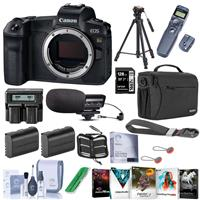 Canon EOS Ra Mirrorless Digital Camera - Bundle With 128GB SDXC Card, Shoulder Bag, 2x Spare Battery, Dual Charger, Tripod, Wireless Remote Shutter Release, Peak Cuff Wrist Strap, Software, And More