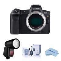 Canon EOS Ra Mirrorless Digital Camera - With Flashpoint Zoom Li-on X R2 TTL On-Camera Round Flash Speedlight, Cleaning Kit, Microfiber Cloth