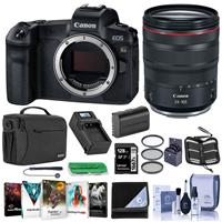 Canon EOS Ra Mirrorless Digital Camera With Canon RF 24-105mm f/4 L IS USM Lens Bundle With 128GB SDXC Card, Shoulder Bag, 72mm Filter Kit, Spare Battery, Lens Wrap, Softwae Package, And More