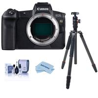 Canon EOS Ra Mirrorless Digital Camera - WITH FotoPro X-Go Max Carbon Fiber Tripod with Built-In Monopod FPH-62Q Ball Head, Cleaning KIt, Microfiber Cloth