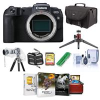 Canon EOS RP Mirrorless Full Frame Digital Camera Body - Bundle With 64GB SDXC Card, Camera Case, Table Top Tripod, Memory Wallet, Cleaning Kit, Card Reader, Slinger Rain Cover, Mac Software Package