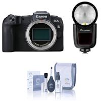 Canon EOS RP Mirrorless Full Frame Digital Camera Body - With Flashpoint Zoom Li-on X R2 TTL On-Camera Round Flash Speedlight For Canon