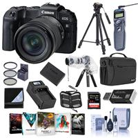 Canon EOS RP 26.2MP Full-Frame Mirrorless Digital Camera with RF 24-105mm F4-7.1 IS STMLens - Bundle With 64GB SDXC Card, Camera Case, Spare Battery, 72mm Filter Kit, Software Pack, Tripod And More
