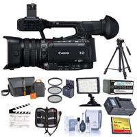 Canon XF200 High Definition 1080p Camcorder - Bundle w/Video Bag, 64GB Compact Flash Card, Tripod, Spare Battery, Filter Kit, Video Light, Cleaning Kit, Memory Wallet, Clapboard Slate, Cmpct Charger