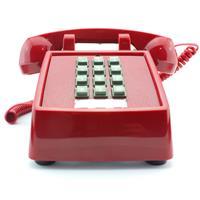 Image of Cetis Scitec 2510E Single-Line Telephone, Desk Set, Red