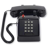 Image of Cetis Scitec 2510D Single-Line Telephone with Message Waiting Light, Double-Gong Bell Ringer, Black