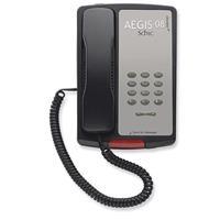 Image of Cetis Scitec AEGIS-P-08 Single-Line Corded Non-Speakerphone, Black