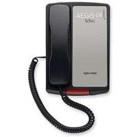 Image of Cetis AEGIS-LB-08 80101 No Dial Single Line Lobby Phone with White Box, Black