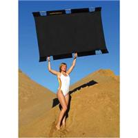 Sunbounce Pro Textile & Frame Kit, 4x6' Black with Softwhite Backing. Product image - 859