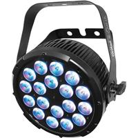 Image of CHAUVET Professional COLORdash Par-Quad 18 Colored RGBA LED with Power Cord, 3-pin and 5-pin XLR DMX Connectors, 1210 lux Illuminance at 5m