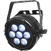 Image of CHAUVET Professional COLORdash Par-Quad 7 Colored RGBA LED with Power Cord, 3-pin and 5-pin DMX Connectors, 434 lux Illuminance at 5 m