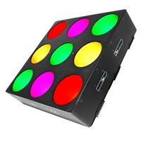 Image of CHAUVET DJ Core 3x3 LED Pixel Mapping and Wash Panel with Power Cord, 5mm Allen Key, Hanging Bracket, 3-pin DMX Connectors, 1025 lux Illuminance at 2m
