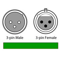 Image of CHAUVET DJ 50' 3-Pin Male to 3-Pin Female DMX Cable, 24 AWG Gauge