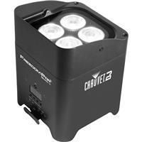 Image of CHAUVET DJ Freedom Par Quad-4 LED Light with Power Cord & IRC6, 4/6/10 DMX Channels, 3-pin XLR Connectors, 4 LEDs Light Source, 2300 lux Illuminance at 2m, Black