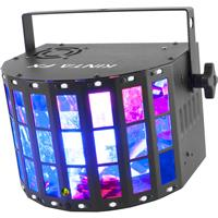Image of CHAUVET DJ Kinta FX RGBW LED Derby/Laser/Strobe Multi-Effect Fixture, 2 or 9 DMX Channel, 3-Pin XLR DMX Connector, 16x SMD LED Strobe