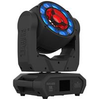 Image of CHAUVET DJ Maverick MK Pyxis 15W RGBW LED Moving Head Wash and Beam Fixture with Powerkon IP65 Power Cord and 2x Omega Brackets, 2800 to 10000K Color Temperature