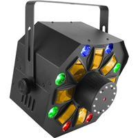 Image of CHAUVET DJ Swarm Wash FX RGBAW 4-in-1 LED Derby/Laser/Strobe Multi-Effect Fixture, 2 or 18 DMX Channel, 3-Pin XLR DMX Connector, 8 Quad-Color RGB+UV LED