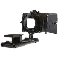 Image of Cavision 3x3 Matte Box Package for DSLR Camera, Includes Matte Box with Top & Side Flags, Donut Style Adapter Ring and 15mm Swing Away Rods Support