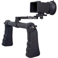 Image of Cavision Dual Handgrip Viewfinder Package for Canon EOS 5D Mark III Camera, Includes MHE52 LCD Viewfinder System, QR Swing Connection Piece, Mini-DV Plate