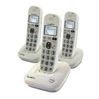 Clarity D712C2 Amplified Big Button 3 Handset Cordless Telephone With Answering Machine