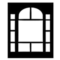 """Image of Chimera Window Pattern for 42x42"""" Compact Frame, Columns, Requires Holder 5300"""