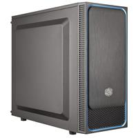 """Image of CoolerMaster MasterBox E500L ATX Mid-Tower with Front Sliding Brushed Top Panel, 2x 2.5"""" Drive Bays, 7x Expansion Slots, Blue"""